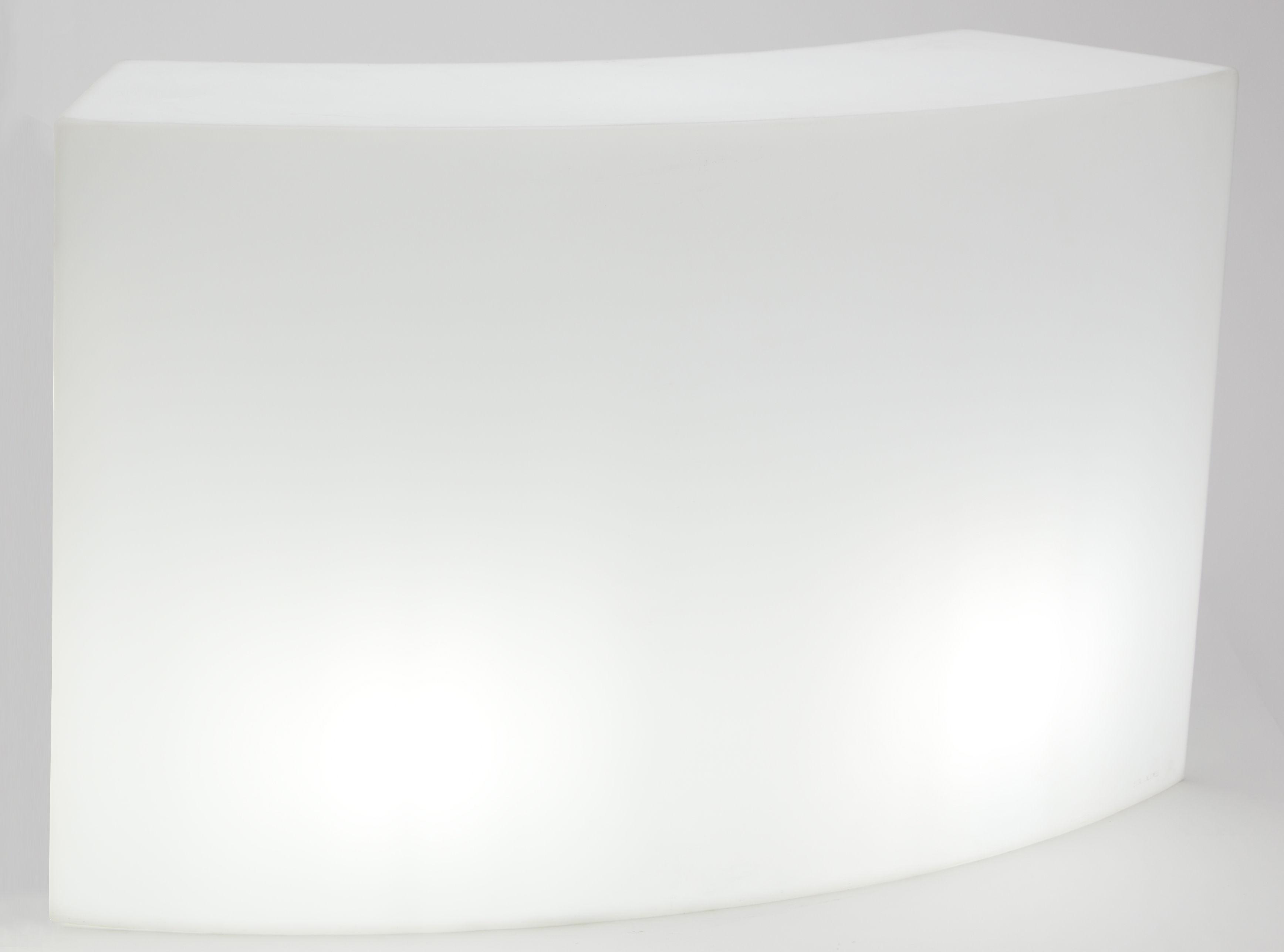 Arredamento - Tavoli alti - Bancone luminoso Snack LED RGB - / L 165 cm - Senza fili di Slide - Bianco - Polietilene