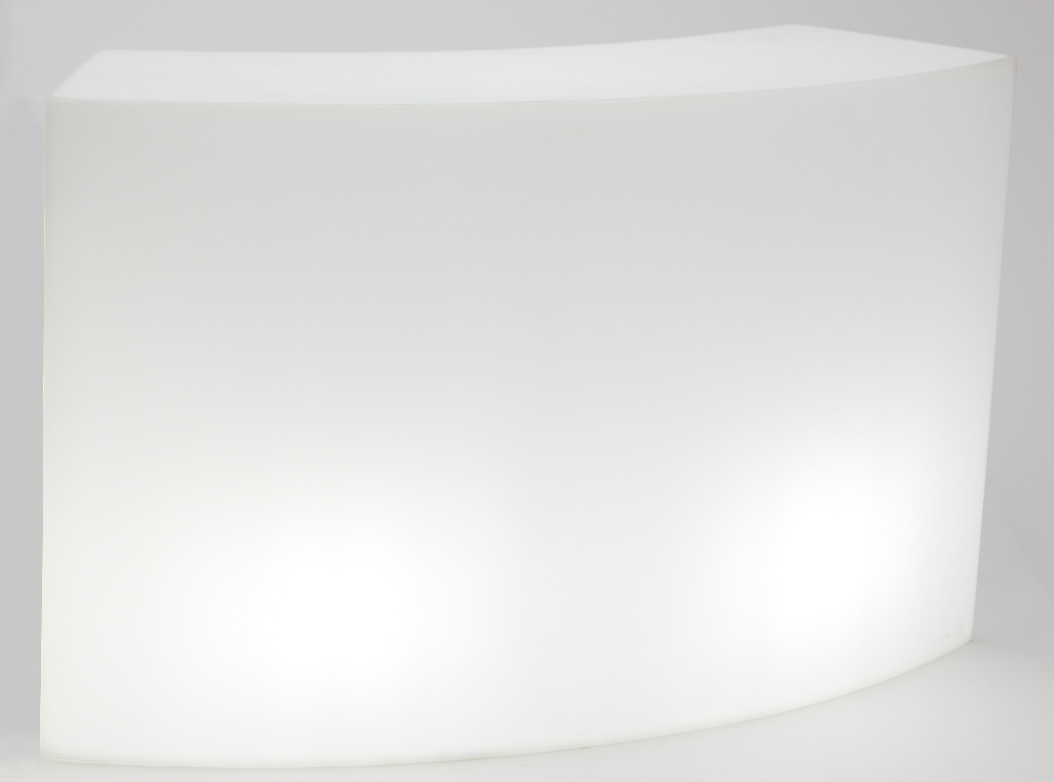 Mobilier - Mange-debout et bars - Bar lumineux Snack LED RGB / L 165 cm - Sans fil - Slide - Blanc - Polyéthylène