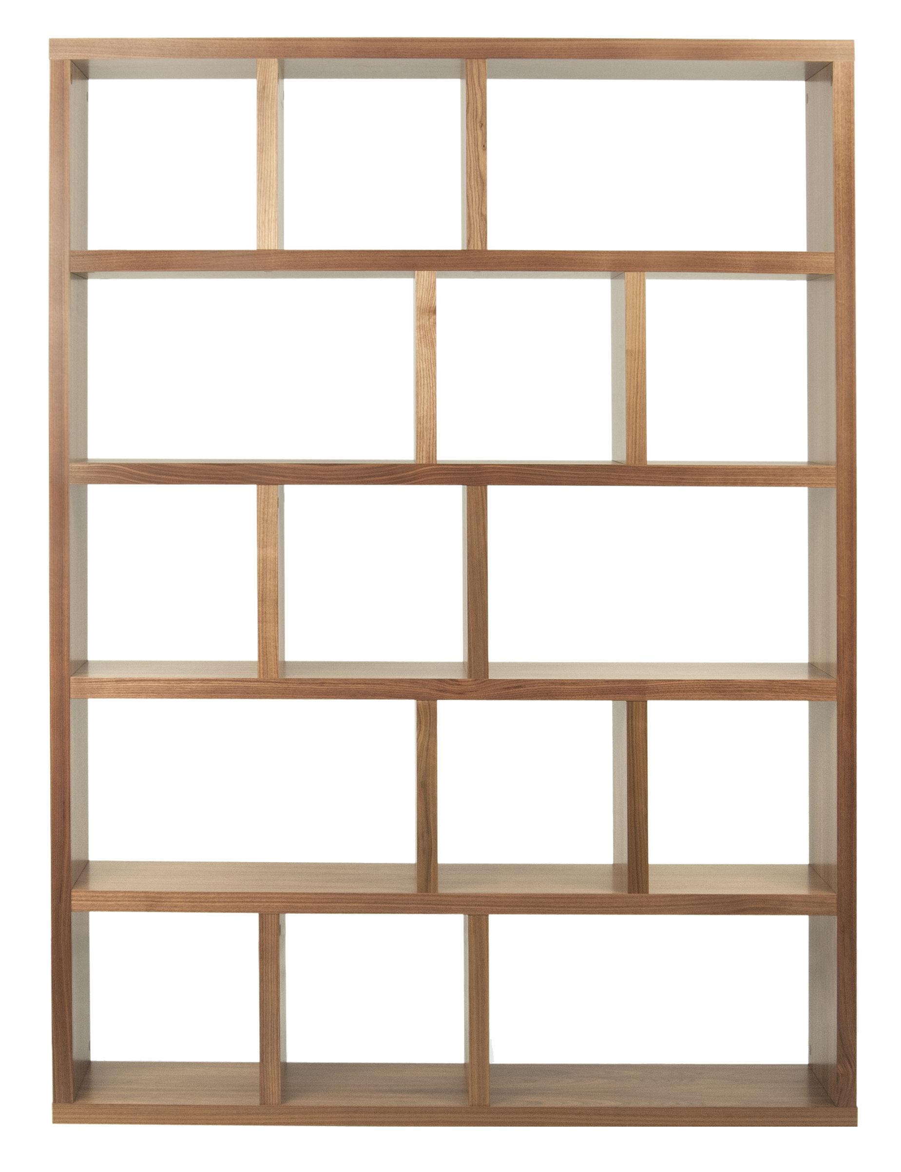 Furniture - Bookcases & Bookshelves - Rotterdam Bookcase - L 150 x H 198 cm by POP UP HOME - Walnut - Walnut-veneered honeycomb panels