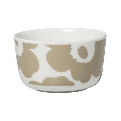 Tableware - Bowls - Unikko Bowl - / Ø 9.5 x H 6 cm - 25 cl by Marimekko - Unikko / Beige - Sandstone