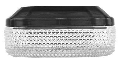 Decoration - Decorative Boxes - Brilliant L Box - W 12 x H 5 cm by Normann Copenhagen - Transparent / Grey top - Glass