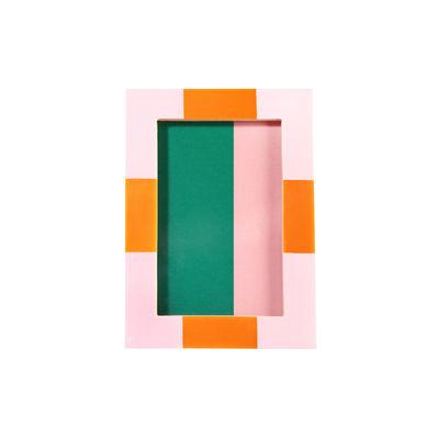 Déco - Objets déco et cadres-photos - Cadre-photo Check Rectangle / 13,5 x 18,5 cm - Polyrésine - & klevering - Rose - MDF, Polyrésine