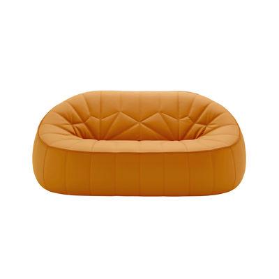 Mobilier - Canapés - Canapé 2 places Ottoman / Similicuir - L 165 cm - Cinna - Orange (Similicuir) - ABS, Mousse polyuréthane, Similicuir