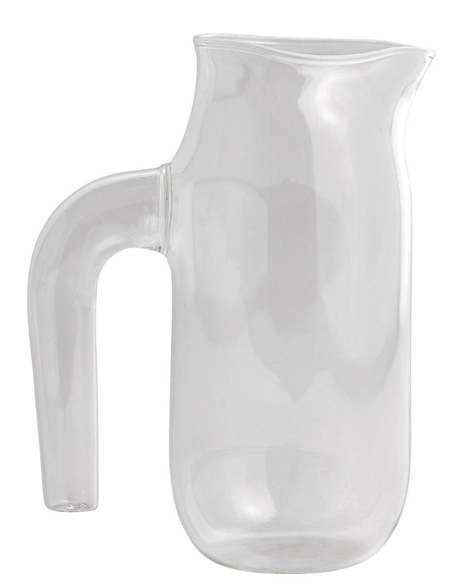 Tavola - Caraffe e Decantatori - Caraffa Jug Large - / Ø 10 x H 20,5 cm di Hay - Trasparente - Vetro borosilicato