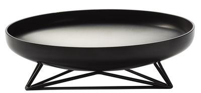 Centre de table Steel Vessels Large / Vide-poche - Ø 52 cm - Th Manufacture noir satiné en métal