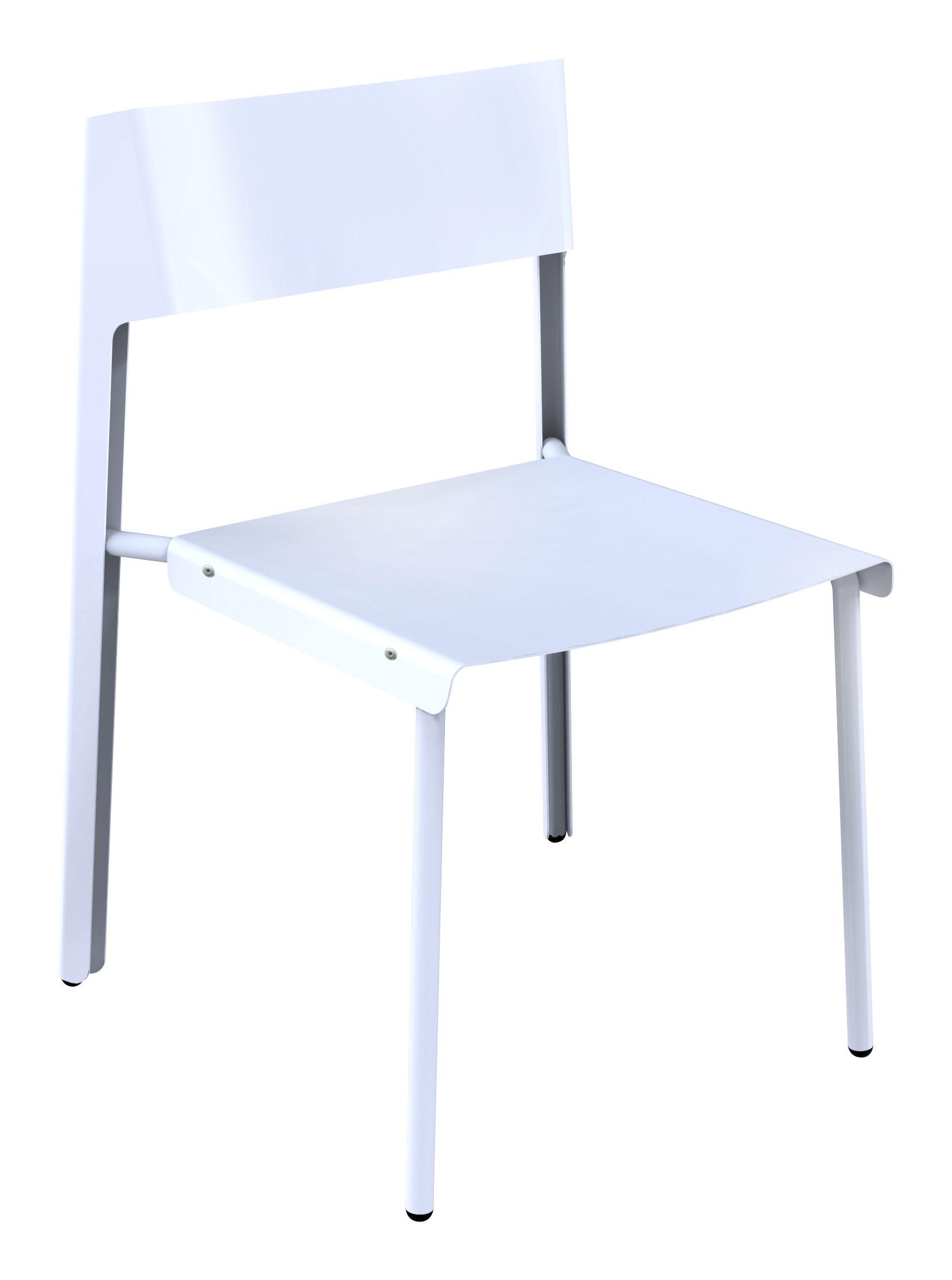 Mobilier - Chaises, fauteuils de salle à manger - Chaise Dakar - Skitsch - Blanc - Acier, Aluminium