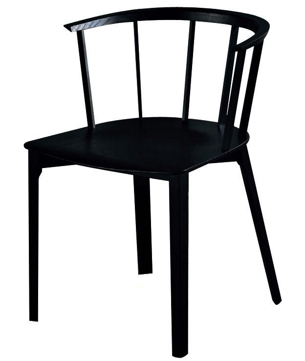 Mobilier - Chaises, fauteuils de salle à manger - Chaise Deck / Bois - Glas Italia - Noir cendre - Frêne teinté