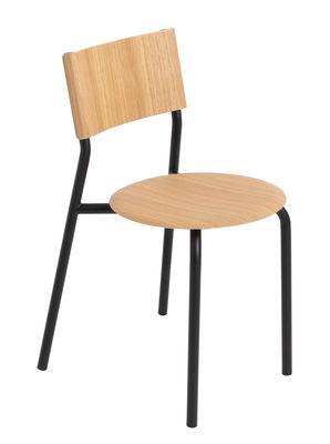 Mobilier - Chaises, fauteuils de salle à manger - Chaise empilable SSD / Chêne - TipToe - Chêne / Noir Graphite - Acier thermolaqué, Chêne