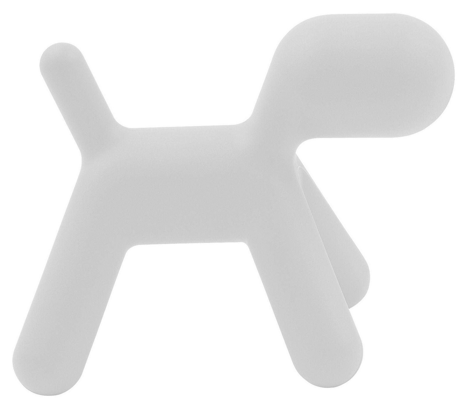 Mobilier - Mobilier Kids - Chaise enfant Puppy Medium L 56 cm - Magis Collection Me Too - Blanc mat - Polyéthylène