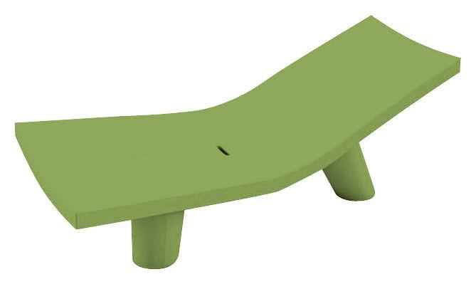 Outdoor - Sedie e Amache - Chaise longue Low Lita Lounge di Slide - Verde - polietilene riciclabile