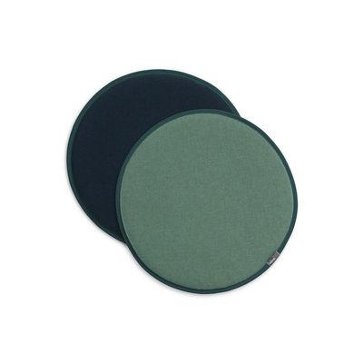 Déco - Coussins - Coussin d'assise Seat Dots / Ø 38 cm - Réversible - Vitra - Vert menthe / Bleu pétrole - Mousse, Tissu