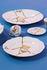 Kintsugi Dessert plate - / Porcelain & gold finish by Seletti