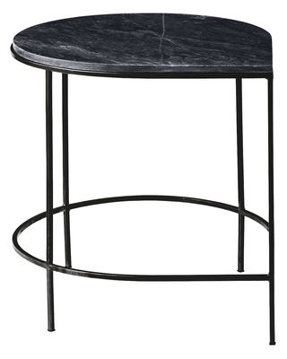 Furniture - Coffee Tables - Stilla End table - Granite top / H 50 cm by AYTM - Granite / Black leg - Granite, Painted iron
