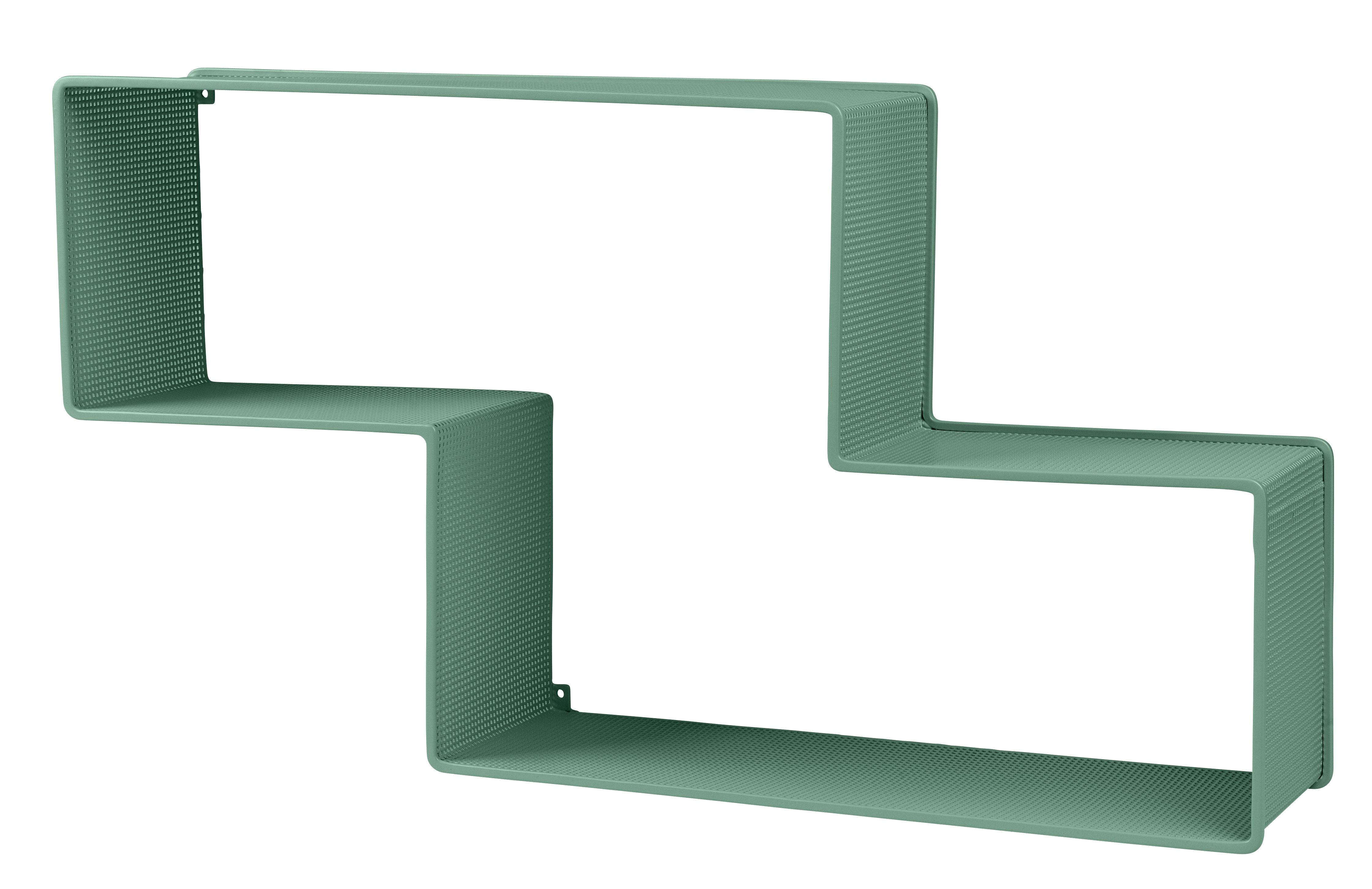 Mobilier - Etagères & bibliothèques - Etagère Dédal / Matégot - L 90 cm - Réédition 50' - Gubi - Vert - Tôle d'acier