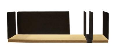 Mobilier - Etagères & bibliothèques - Etagère Portable Atelier / Moleskine - L 60 cm - Avec porte-documents - Driade - Bois & noir / Elément coulissant noir - Acier laqué, Contreplaqué de chêne