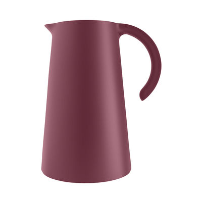 Tableware - Water Carafes & Wine Decanters - Rise Insulated jug - / 1L by Eva Solo - Pomegranate - Glass, Plastic