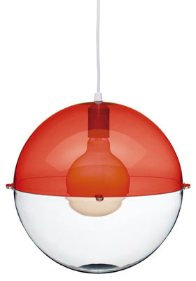 Lighting - Pendant Lighting - Orion Pendant by Koziol - Transparent red / Transparent - Polystyrene
