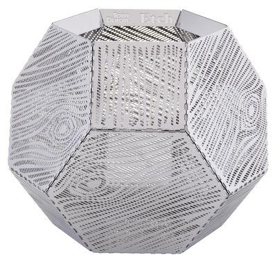 Déco - Bougeoirs, photophores - Photophore Etch / Motif bois - Tom Dixon - Acier - Aluminium anodisé