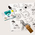 Poster à colorier Coloriage Pocket - Animaux / 52 x 38 cm - OMY Design & Play