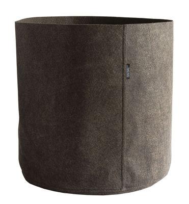 Pot de fleurs Humus Feutre / Outdoor - 100 L - Bacsac marron/gris en tissu
