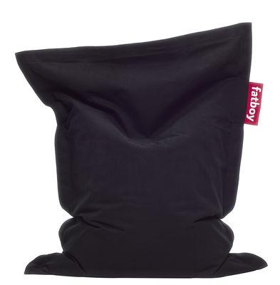 Pouf Junior Stonewashed / Pour enfant - Fatboy Larg 100 x L 130 cm noir en tissu