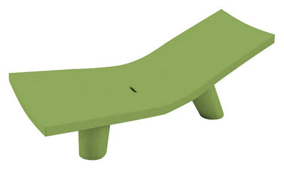 Outdoor - Sun Loungers & Hammocks - Low Lita Lounge Reclining chair by Slide - Green - recyclable polyethylene