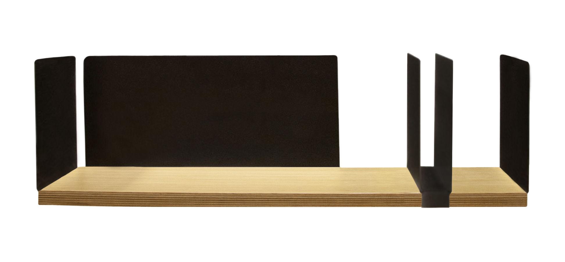 Möbel - Regale und Bücherregale - Portable Atelier Regal / Moleskine - L 60 cm - mit Dokumentenhalter - Driade - Holz & schwarz / verschiebbarer Dokumentenhalter schwarz - Eichenholzfurnier, lackierter Stahl