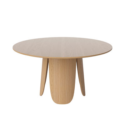 Furniture - Dining Tables - Peyote Round table - / Ø 140 cm - 6 to 8 people by Bolia - Oak - Oak plywood FSC