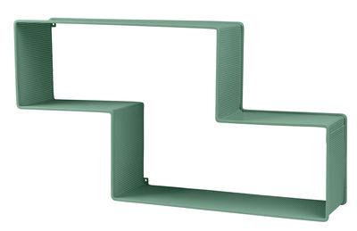 Arredamento - Scaffali e librerie - Scaffale Dédal - / Matégot - L 90 cm - Rieditata 50' di Gubi - Verde - Lamiera d'acciaio