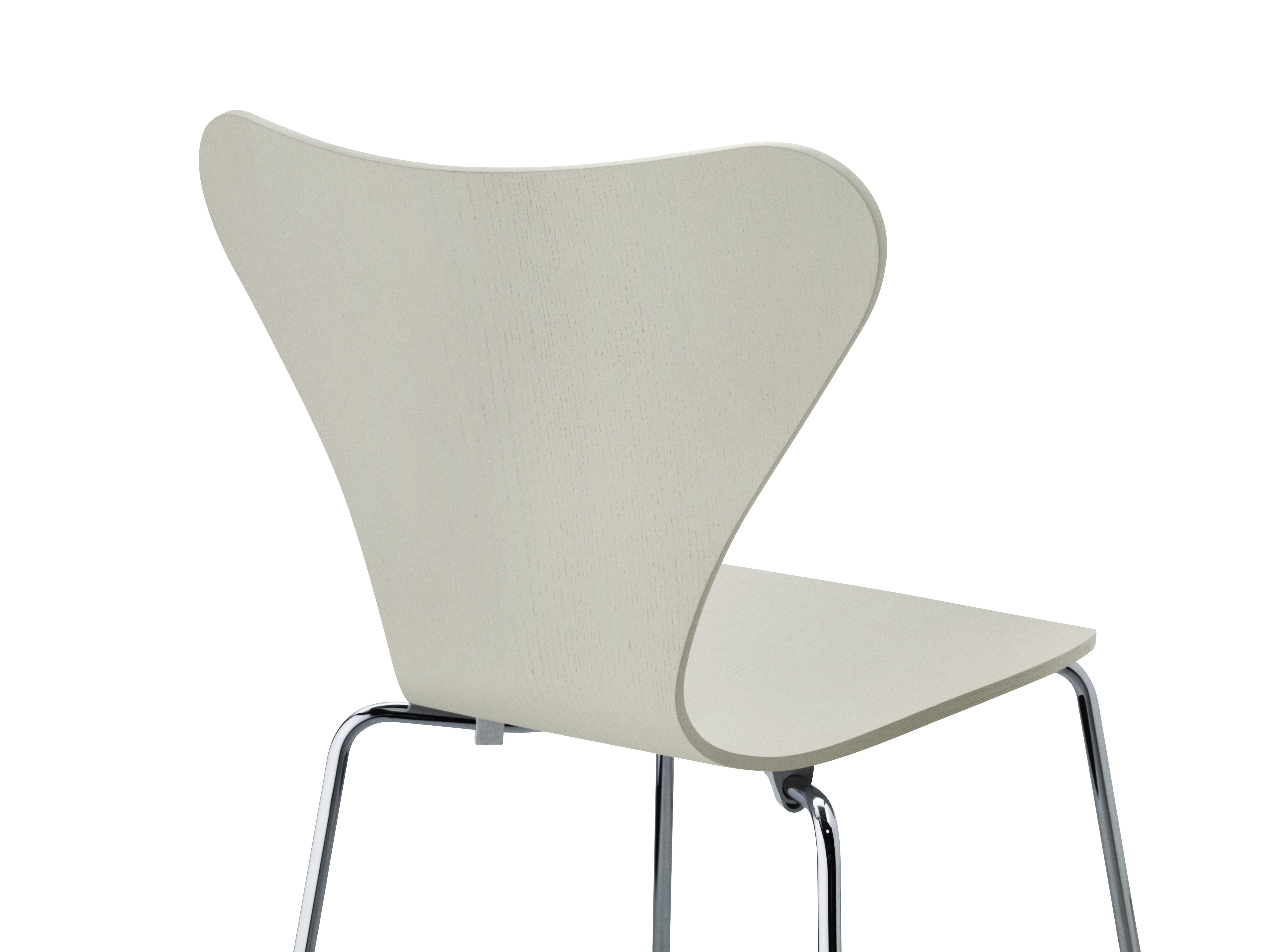 Sedie Serie 7 Fritz Hansen.Stacking Chair Serie 7 By Fritz Hansen Light Grey Tainted Ash L