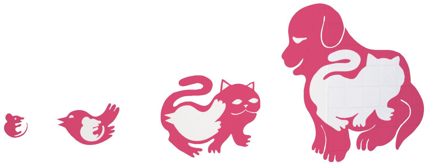 Interni - Sticker - Sticker Pet eat pet di Domestic - Rose - Vinile