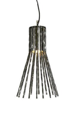 Luminaire - Suspensions - Suspension Batti.batti Small / H 41,5 cm - Fer martelé à la main - Opinion Ciatti - Fer brut - Fer martelé