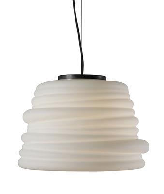 Suspension Bibendum LED / Ø 35 cm - Verre - Karman blanc en verre