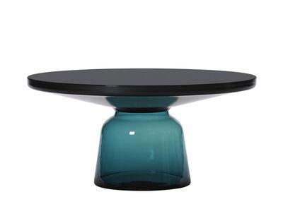 Table basse Bell Coffee / Ø 75 x H 36 cm - Plateau verre - ClassiCon noir,bleu montana en verre