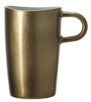 Tasse Loop à Macchiato / H 12 cm - Leonardo marron métallisé en verre