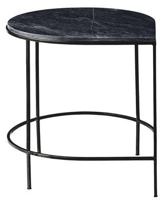 Arredamento - Tavolini  - Tavolo Stilla / Top marmo - H 51 cm - AYTM - Marmo nero / Piede nero - Ferro dipinto, Granito