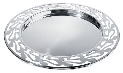 Tableware - Trays - Ethno Tray by Alessi - Steel - Polished 18/10 stainless steel