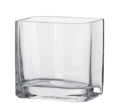 Vase Lucca / 15 x 11 x H 15 cm - Leonardo transparent en verre