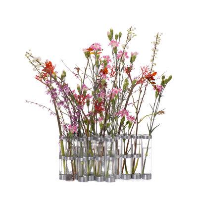 Interni - Vasi - Vaso d'Avril di Tsé-Tsé - Trasparente - Acciaio zincato, Vetro