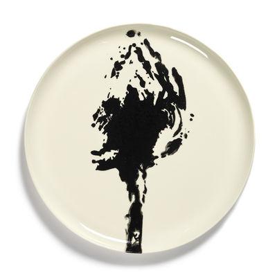 Arts de la table - Assiettes - Assiette de présentation Feast / Ø 35 x H 2 cm - Serax - Artichaut / Blanc & noir - Grès émaillé