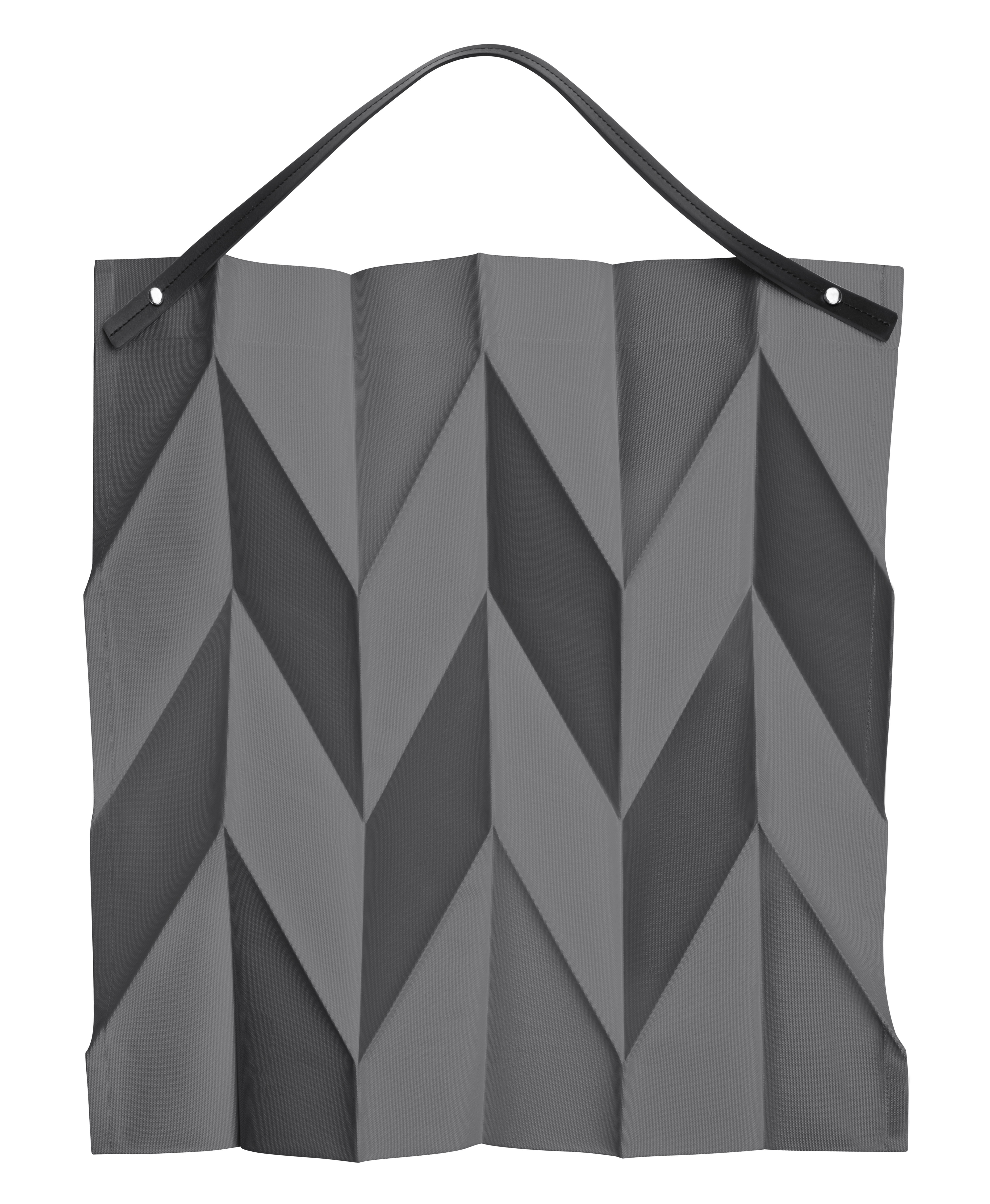 Accessories - Bags, Purses & Luggage - Iittala X Issey Miyake Bag - Fabric & leather by Iittala - Dark grey - Leather, Polyester