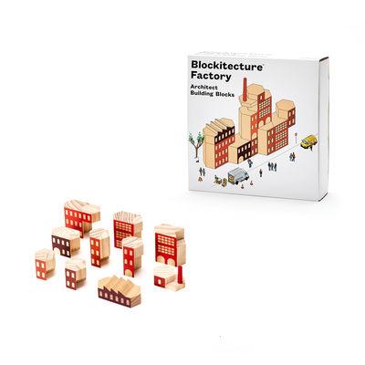 Déco - Pour les enfants - Blocs de construction Blockitecture - Factory / 10 pièces - Bois - Areaware - Multicolore - Pin