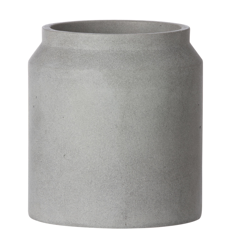 blumentopf contenant small von ferm living - hellgrau - h 18 x Ø 16