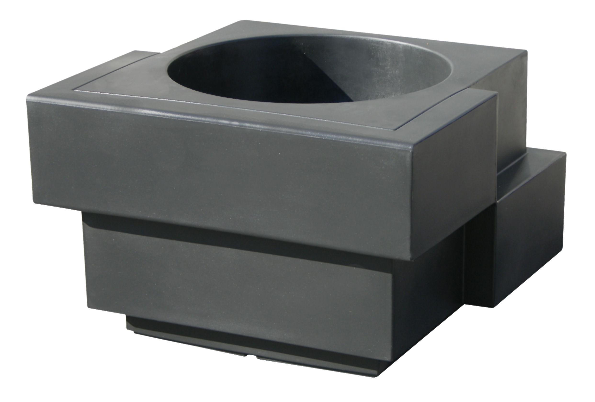 Outdoor - Töpfe und Pflanzen - Cubic Yo Blumentopf - Slide - Grau - recycelbares Polyethen