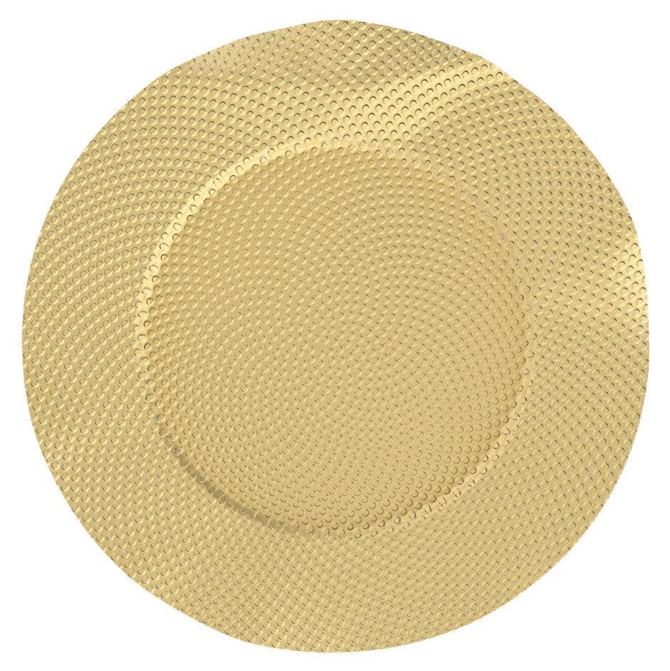 Tableware - Wine Accessories - Sitges Bottle coaster - / Brass - Ø 17 cm by Alessi - Brass - Brass