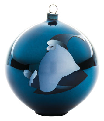 Boule de Noël Blue christmas / Verre soufflé - A di Alessi blanc,bleu en verre