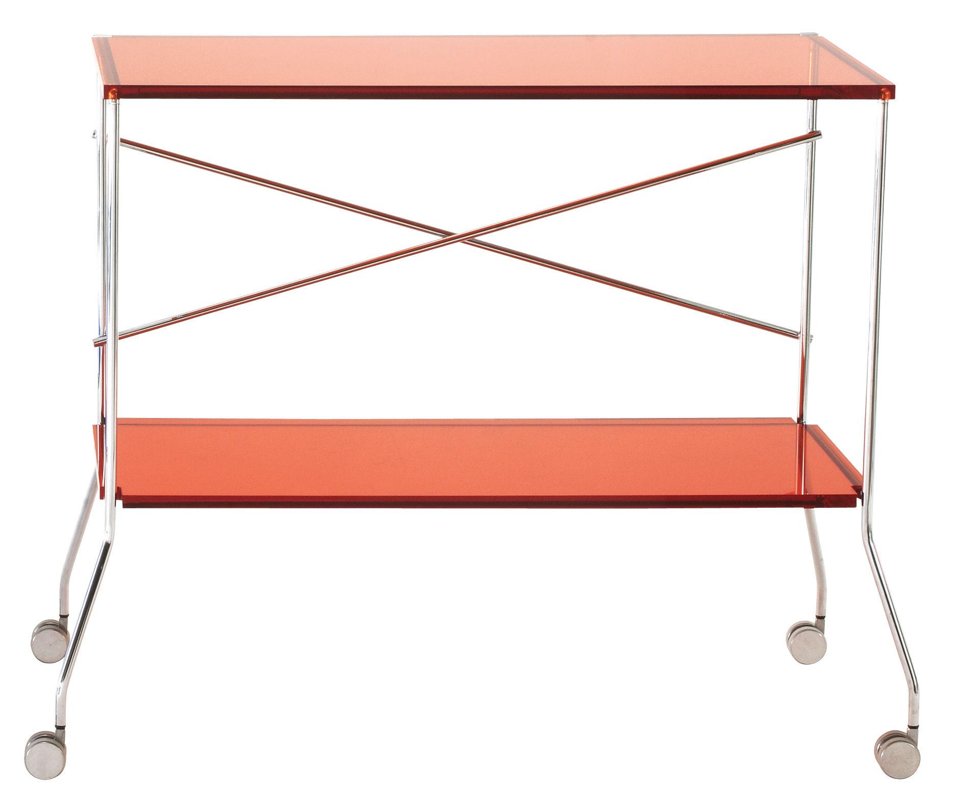 Scopri carrello tavolo d 39 appoggio flip arancione for Tavolo d appoggio
