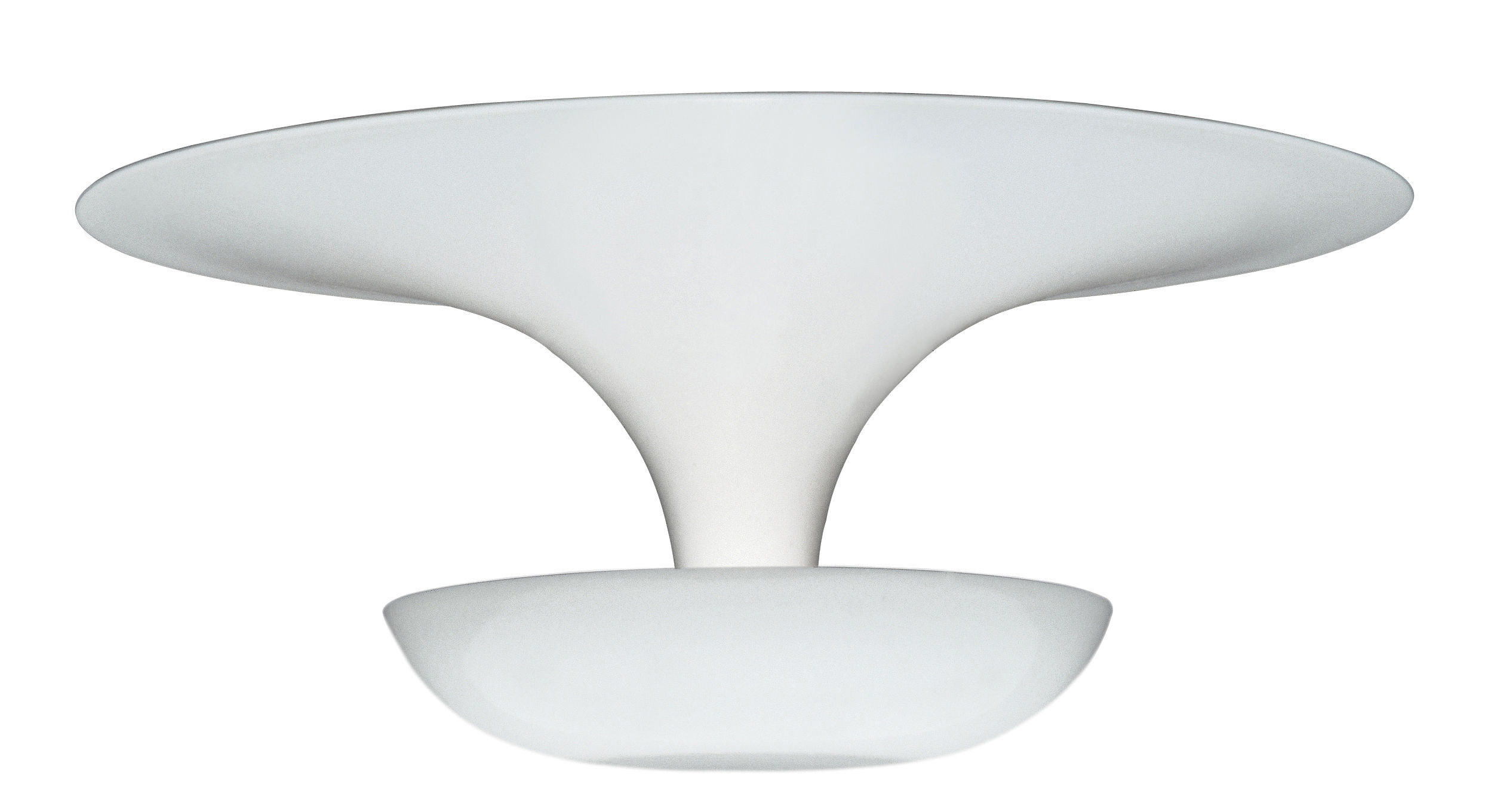 Lighting - Ceiling Lights - Funnel Mini Ceiling light by Vibia - White - Painted aluminium
