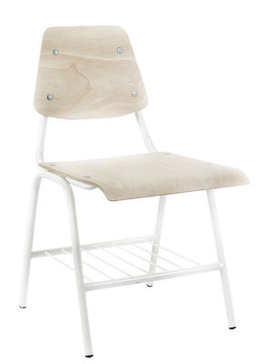 Furniture - Chairs - Daysign Chair - Metal & Oak by Serax - Natural wood / White - Oak, Painted metal