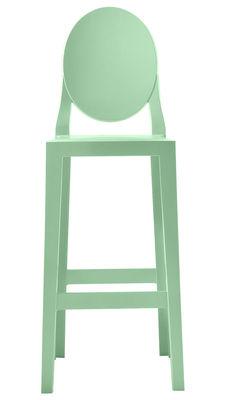 Chaise de bar One more / H 75cm - Plastique - Kartell vert en matière plastique